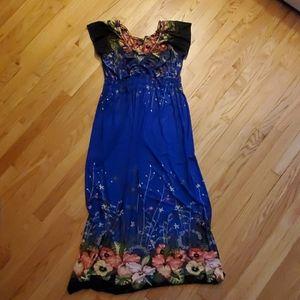 Blue dress with flowers Size 2X